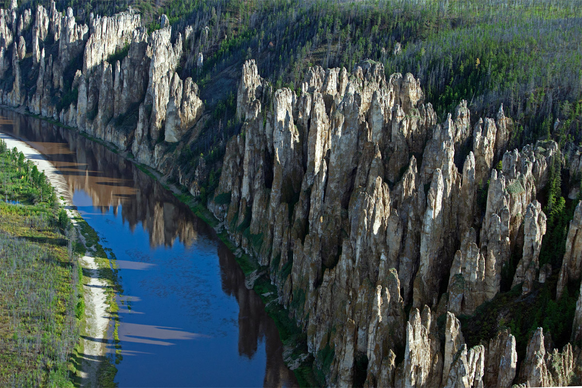 поделитесь своей фото ленские столбы россия река лена как-то раз